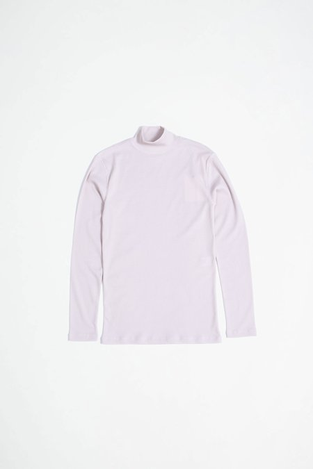 Lemaire Rib Mock Neck Top - Nude