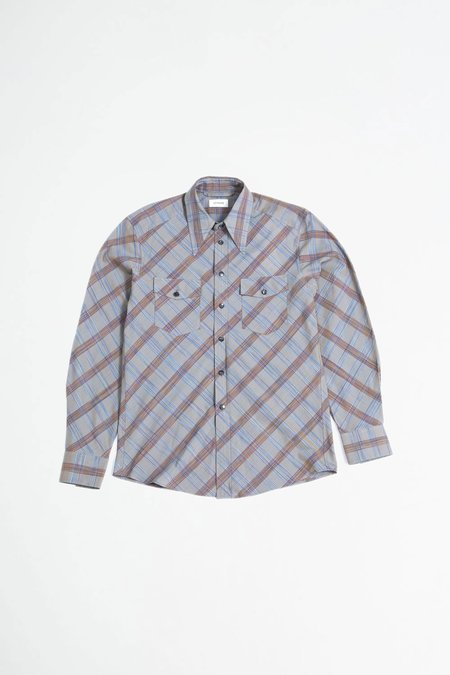 Lemaire Western Shirt  - Grey Check