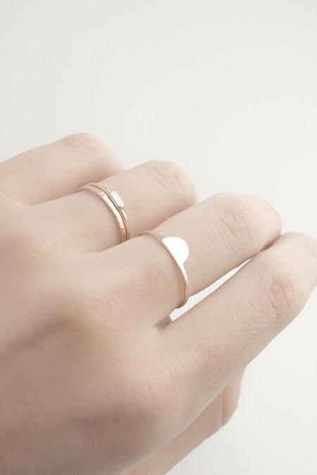 Emi Grannis Diamond Baguette Ring 14k Yellow Gold