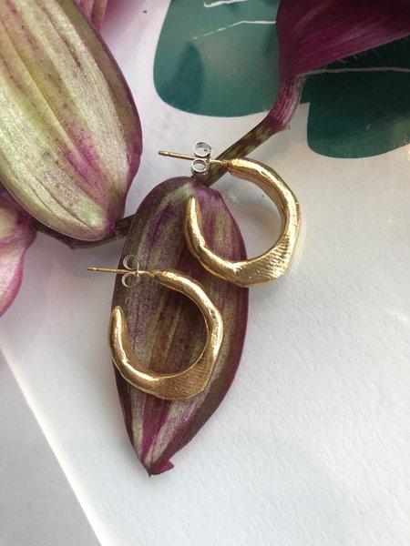 Mercurial NYC Mini Smush Hoop - Gold Plate