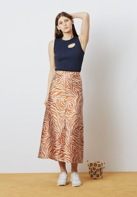 Nikki Chasin Maude Skirt - Electric Zebra