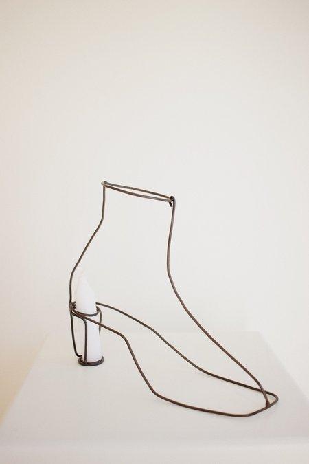 Lane Walkup boot candle holder