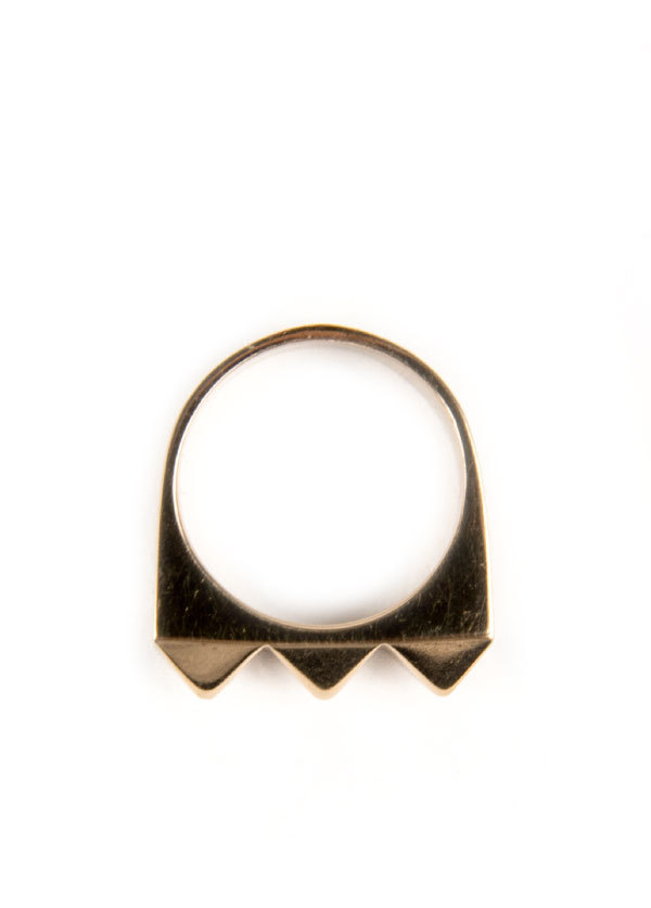 TomTom Jewelry - Large Studder Stack Ring in Bronze