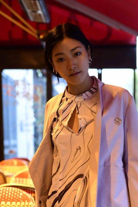 Hana kim Bold left Ear Piece - Silver