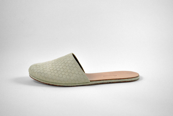 The Palatines Shoes Cognitio Mule - Beige Hex Leather