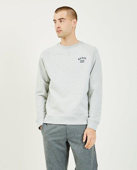 Norse Projects Ketel Ivy Wave Logo Sweatshirt - Gray