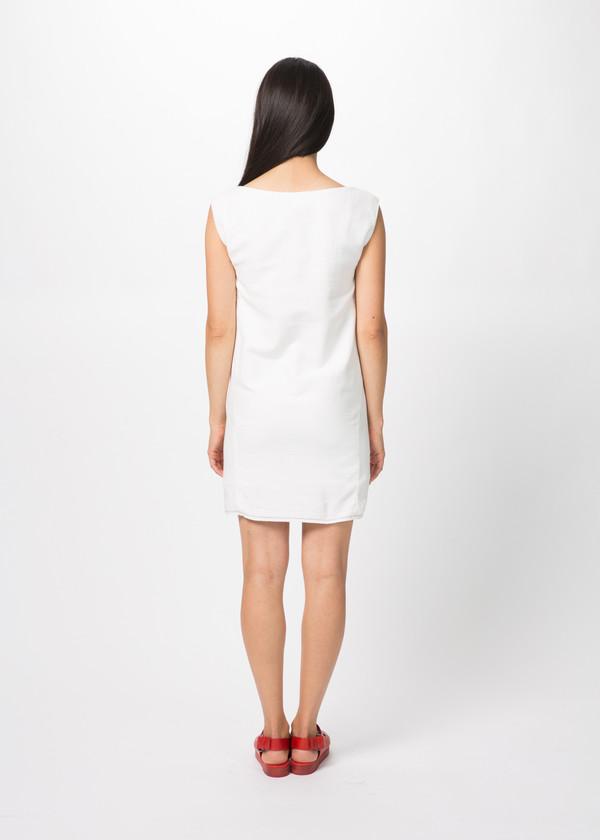 Harvey Faircloth Cotton Boatneck Dress