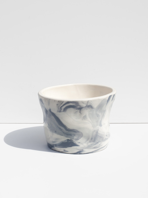 The Pursuits of Happiness Marbled Lumpy Planter