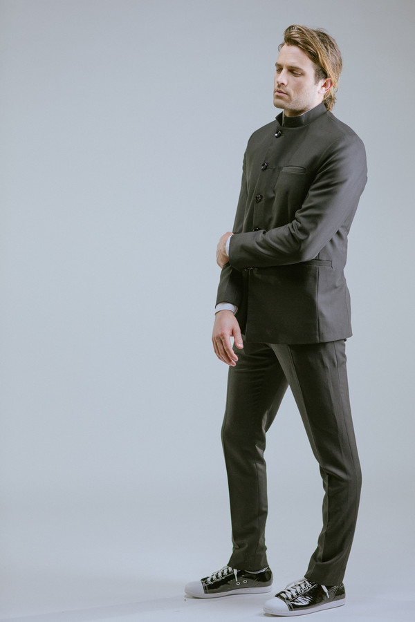 Any Old Iron Chinese Collar Suit Jacket