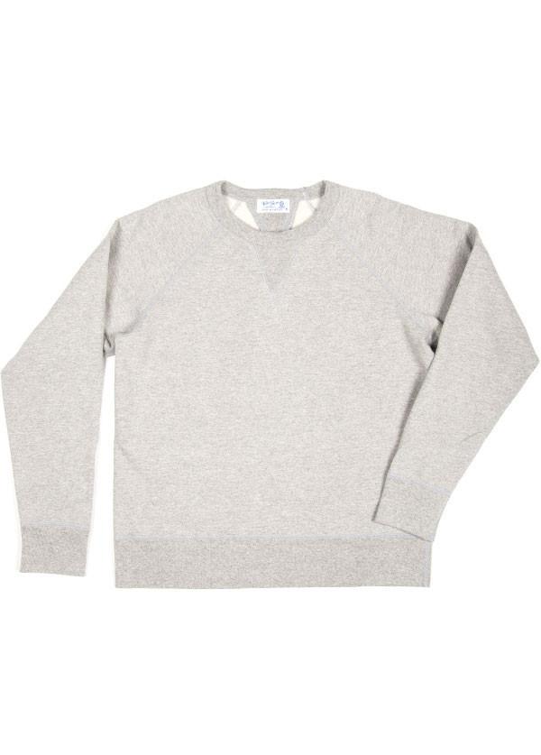 Velva Sheen - Men's Crew Neck Sweatshirt in Heather Grey