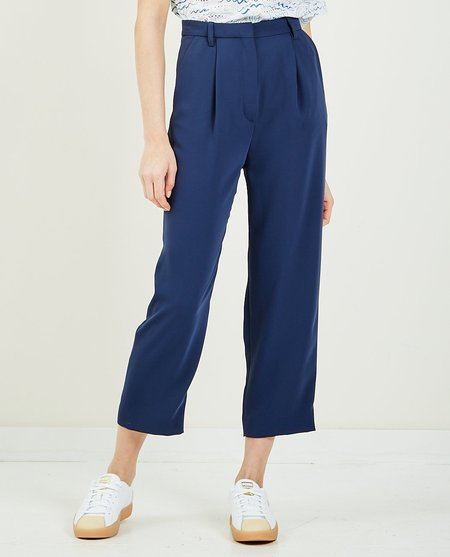 Kenzo Pleated Trouser - Indigo