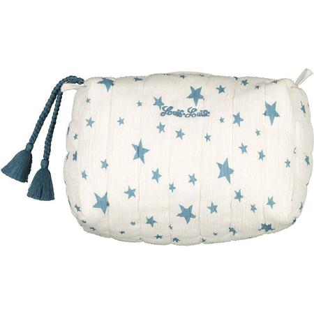 kids louis louise bath pouch - blue stars