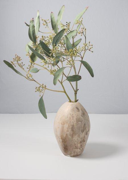Dinosaur Designs River Stone Vase - Sand