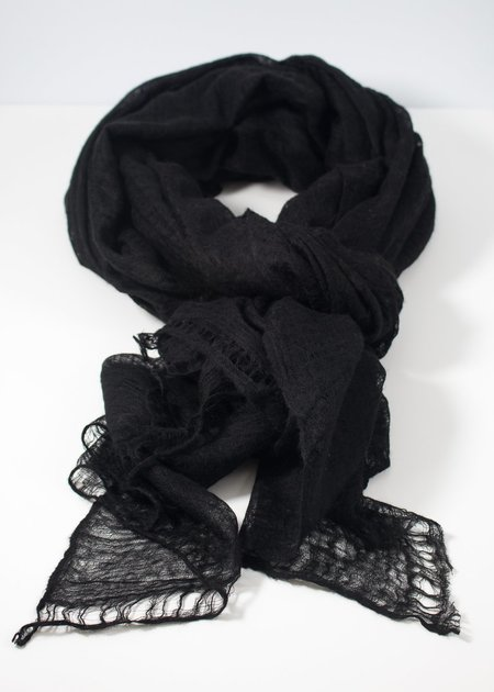 IRIS DELRUBY Flywing cashmere scarf - black