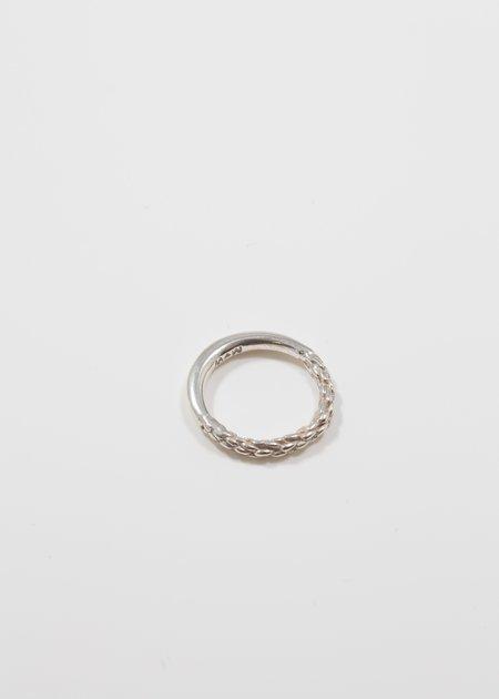 MIRIT WEINSTOCK half and half braid ring - silver