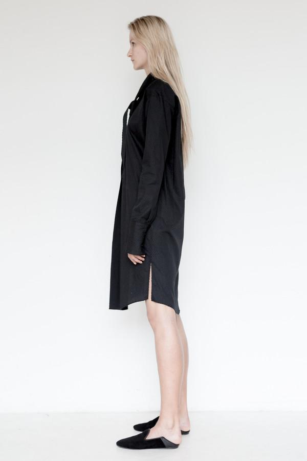 Area Cotton Embossed Tunic Dress