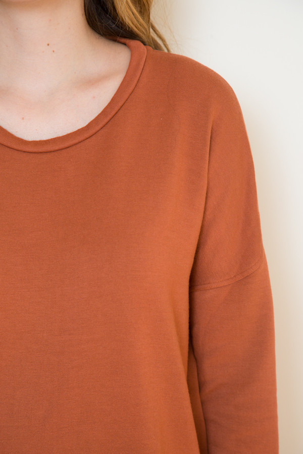 Stateside Rust Long Sleeve Sweatshirt