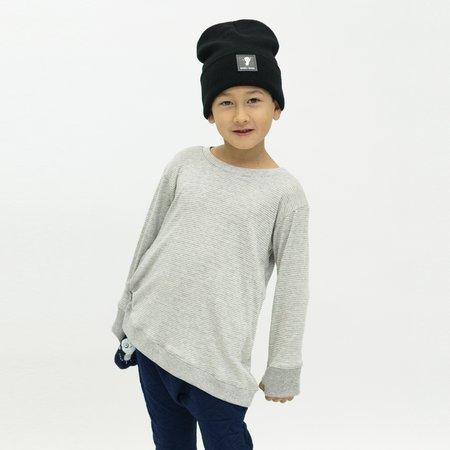 Kids Unisex Bash+Sass Asymmetric Pullover - Grey Skinny Stripes