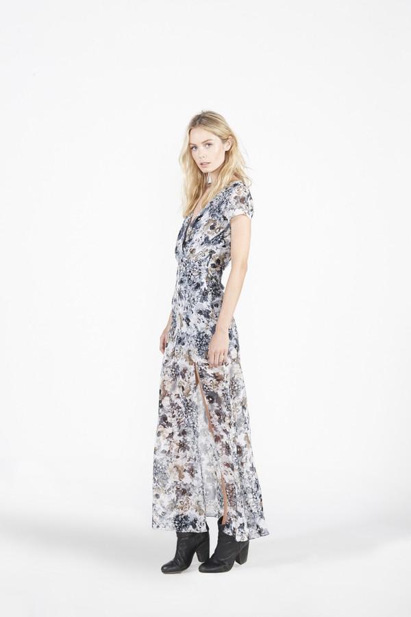 BETWEEN TEN ABSTRACT DRESS - BLUE