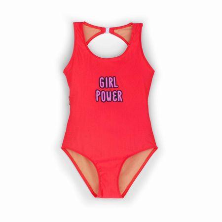 kids andorine girl power bodysuit - pink