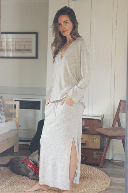 Oats Cashmere Grint Skirt - Pebble grey
