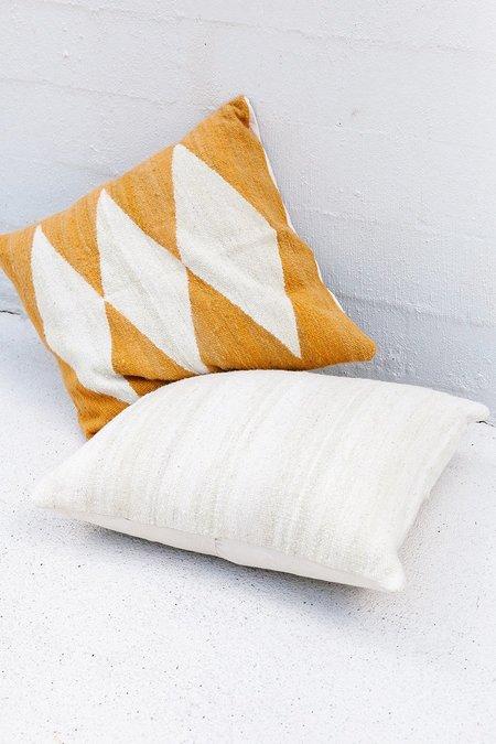 Pampa Puna Floor Cushion #15 - mustard/white