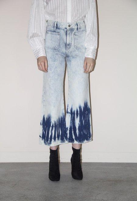 EI8HT DREAMS Wide Leg Crop Jeans - Tie Dye