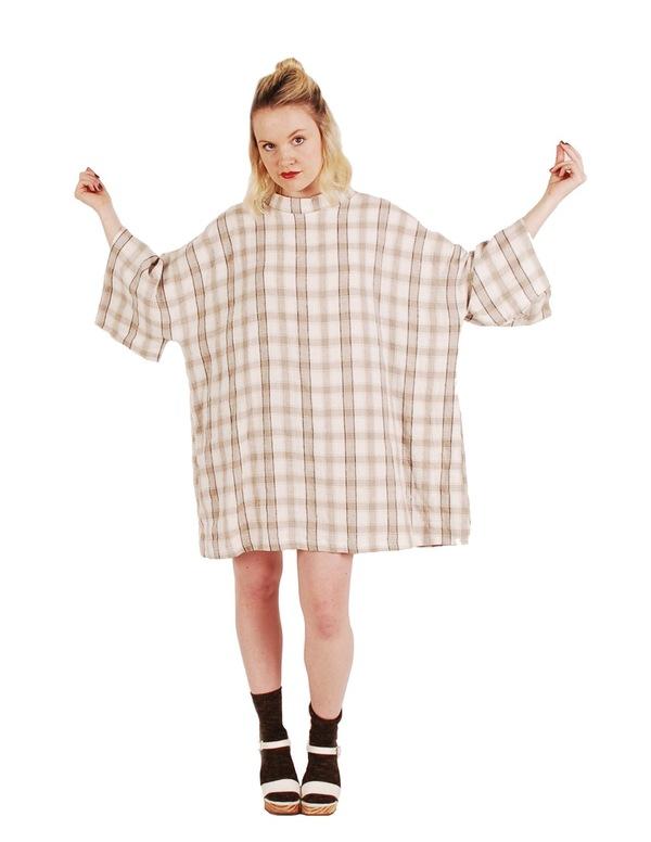 323 Mock Neck Smock Dress