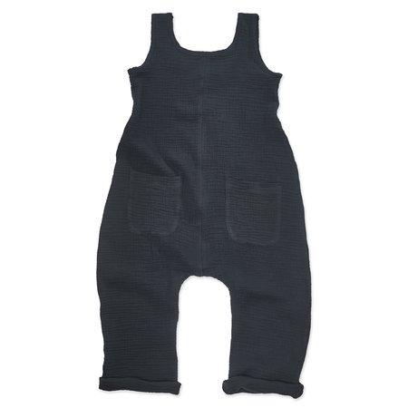 Kids Bacabuche Gauze Relaxed Jumpsuit - Black