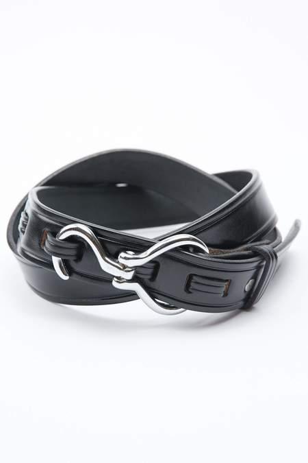 Tory Leather Hoof Pick Belt - Black/Nickel