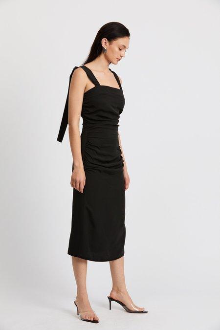 Third Form Le Mode Tie Shoulder Dress - Black