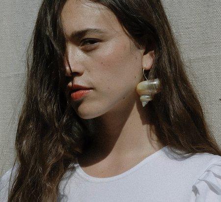 Luiny Turbo Shell Earrings - Sterling Silver
