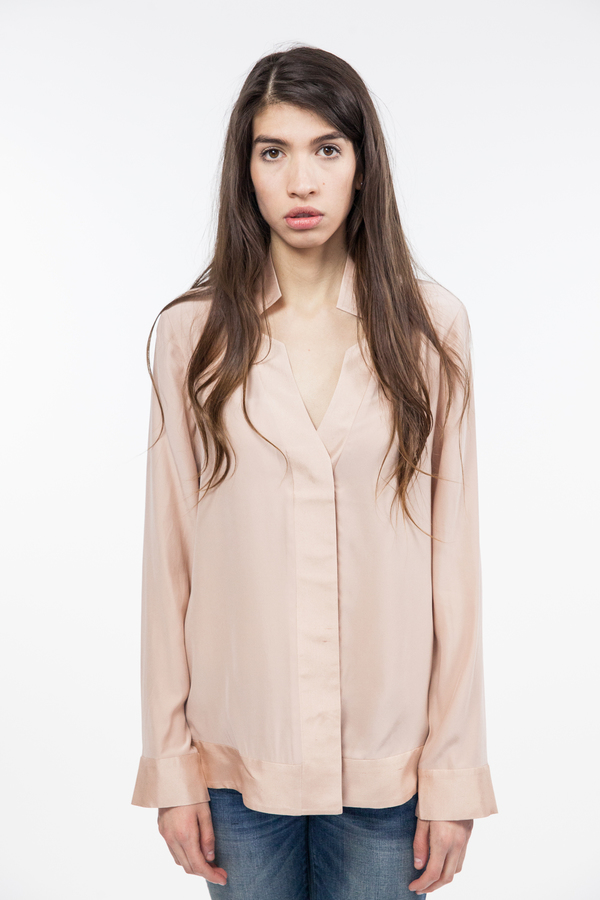 TY-LR The Luxe Silk Top - Sunsand
