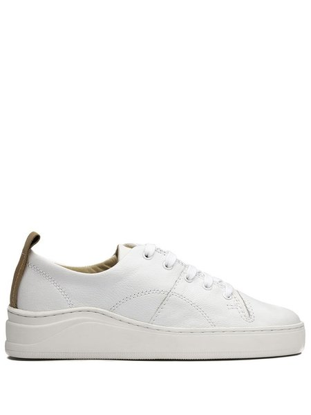 Hudson Sierra Tumbled Leather Trainer - White