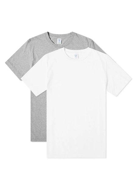 Velva Sheen 2 Pack Tee - White/Grey