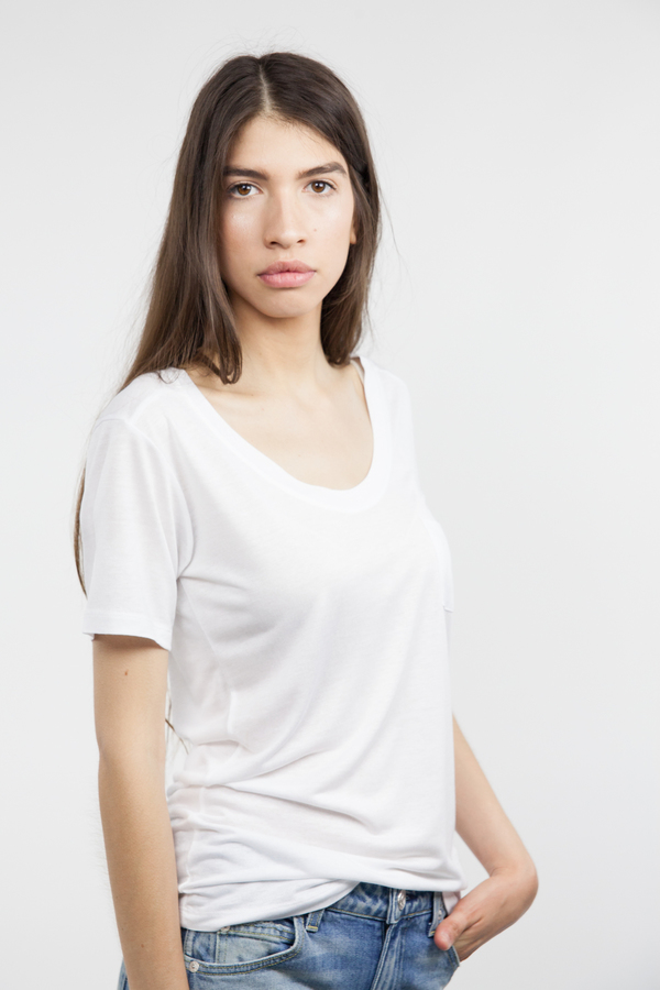 Just Female River Tee - White