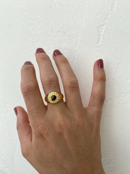 Mercurial NYC Tiger's Eye Beam Ring