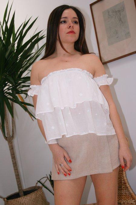 Anaak Summer Off Shoulder Top - White