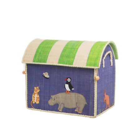 Kids Rice Small Toy Basket - Animal Design