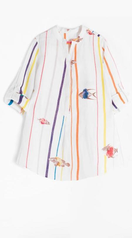 Vilagallo Filippa Shirt - Palaos Fish Print