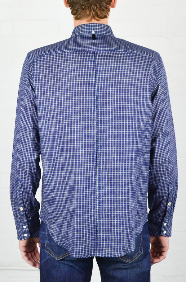 Men's Rag and Bone Indigo Check Yokohama Shirt