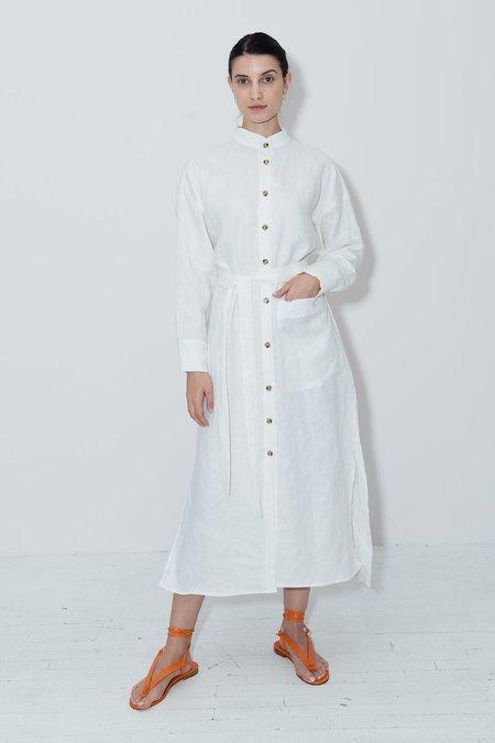 DATURA Linen Petra Kaftan Dress - White