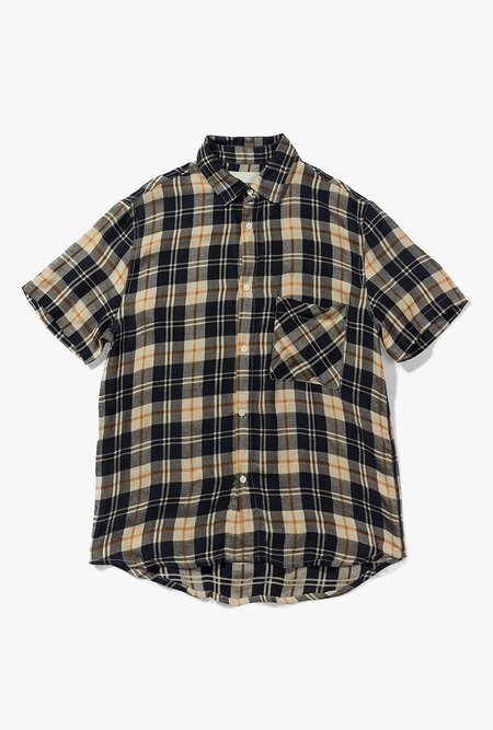 Native North Anholt Check Shirt - Navy / Orange