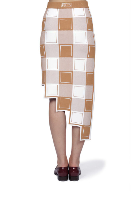 PH5 Cambridge Asymmetric Pencil Skirt - sugar tan