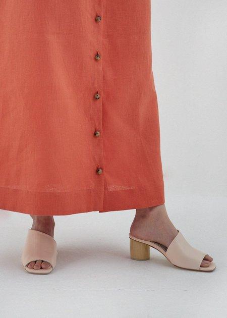 Miista Albarca Leather Sandals - Creme