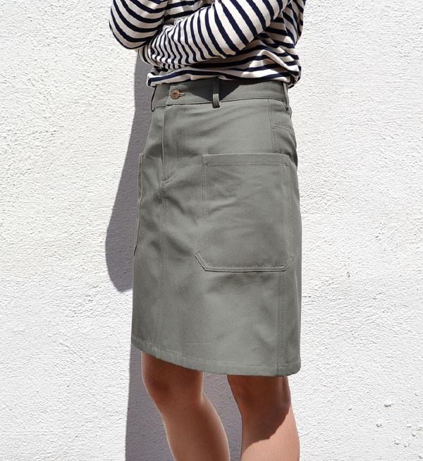 A.P.C. Military Khaki Alba Skirt