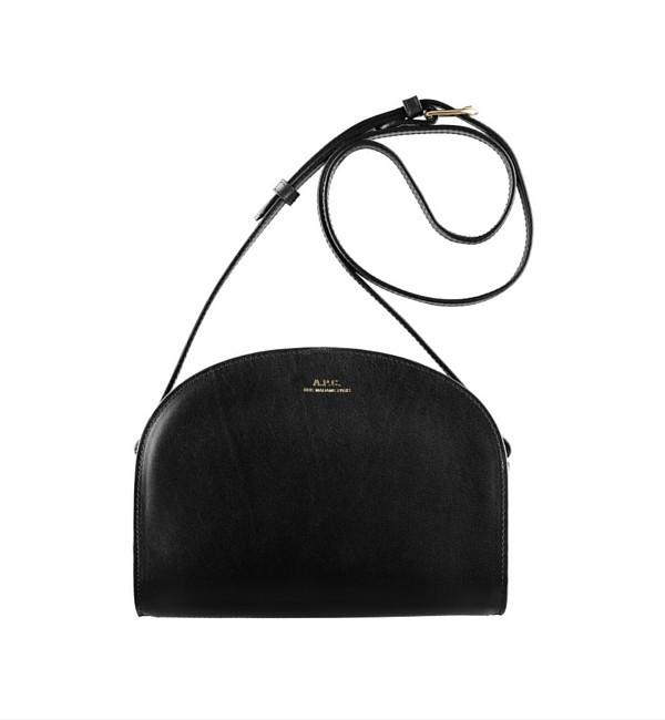 A.P.C. Noir Half Moon Bag