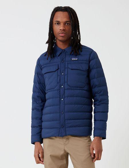 Patagonia Silent Down Shirt Jacket - Classic Navy Blue