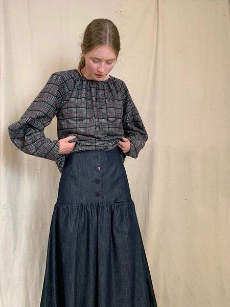 Anderst Denim Simon Button Skirt