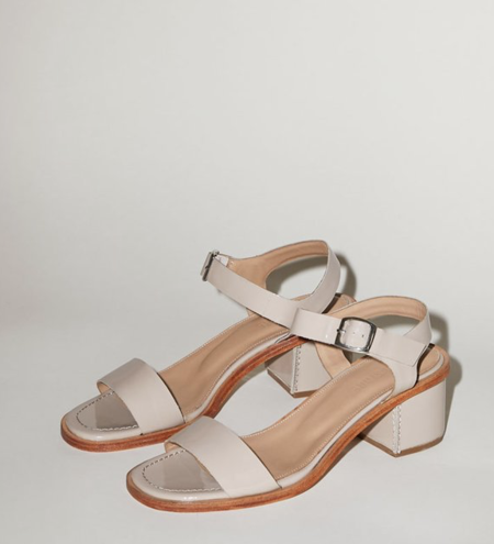 No.6 Palermo Sandal - Oyster Patent